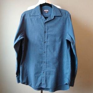 MICHAEL Michael Kors Long Sleeve Blue Men's Shirt